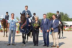 Snels Zoi, (NED), Gringo R<br /> Finale 4 jarige springpaarden <br /> KWPN Paardendagen Ermelo 2015<br /> © Hippo Foto - Leanjo de Koster