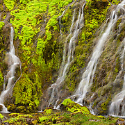 Mini waterfall near Latrabjar, Iceland