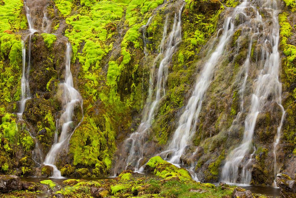 Mini waterfall near Latrabjar, Iceland