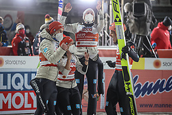 28.02.2021, Oberstdorf, GER, FIS Weltmeisterschaften Ski Nordisch, Oberstdorf 2021, Mixed Teambewerb, Skisprung HS106, im Bild Team Germany // Team Germany during the ski jumping HS106 mixed team competition of FIS Nordic Ski World Championships 2021 in Oberstdorf, Germany on 2021/02/28. EXPA Pictures © 2021, PhotoCredit: EXPA/ Tadeusz Mieczynski