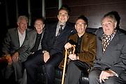 Nick Dunning; David Bradley; David Walliams;Sir Harold Pinter; Michael Gambon. The afterparty following the press night of 'No Man's Land', at Mint Leaf. Haymarket October 7, 2008 *** Local Caption *** -DO NOT ARCHIVE-© Copyright Photograph by Dafydd Jones. 248 Clapham Rd. London SW9 0PZ. Tel 0207 820 0771. www.dafjones.com.