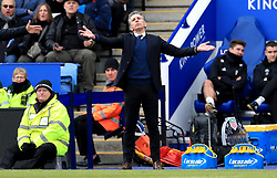 Leicester City manager Claude Puel gestures on the touchline during the Premier League match at the King Power Stadium, Leicester.