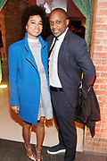 """April 3, 2017- Brooklyn, New York -United States: (L-R) Curator Rujecko Hockley and Visual Artist Hank Willis attend the The Seventh Annual Brooklyn Artists Ball honoring Alicia Keys and Kasseem """"Swiss Beatz"""" Dean held at the Brooklyn Museum on April 3, 2017 in Brooklyn, New York. The Brooklyn Artist Ball is the largest annual fundraising gala at the Brooklyn Museum, which celebrates Brooklyn's creative community and supports the institution's many programs. (Terrence Jennings/terrencejennings.com)"""