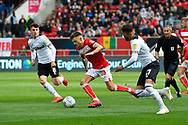 Jamie Paterson (20) of Bristol City on the attack during the EFL Sky Bet Championship match between Bristol City and Derby County at Ashton Gate, Bristol, England on 27 April 2019.