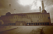 Views of iconic Battersea Power Station London