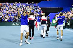 September 15, 2018 - Lille, France, France - joie et tour d honneur des joueurs de l equipe de France en fin de match.Nicolas Mahut  (Credit Image: © Panoramic via ZUMA Press)