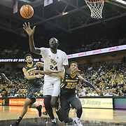 ORLANDO, FL - NOVEMBER 30: Tacko Fall #24 of the UCF Knights fights for a rebound in front of Jordan Barnett #21and Blake Harris #55 of the Missouri Tigers during a NCAA basketball game at the CFE Arena on November 30, 2017 in Orlando, Florida. (Photo by Alex Menendez/Getty Images) *** Local Caption *** Tacko Fall; Jordan Barnett; Blake Harris