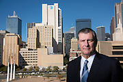Dallas Mayor Mike Rawlings poses for a portrait in Dallas, Texas on November 18, 2016. (Cooper Neill for The New York Times)