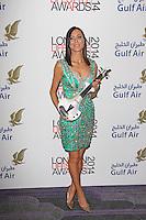 Linzi Stoppard, London Lifestyle Awards 2014, The Troxy, London UK, 08 October 2014, Photo By Brett D. Cove