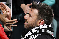 May 19, 2019 - Turin, Italy - Juventus defender Andrea Barzagli (15) greets Juventus supporters during the Serie A football match n.37 JUVENTUS - ATALANTA on 19/05/2019 at the Allianz Stadium in Turin, Italy. (Credit Image: © Matteo Bottanelli/NurPhoto via ZUMA Press)