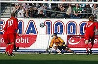 Fotball, eliteserien 25.07.2004, Rosenborg – Fredrikstad 3-1, debutant for Fredrikstad, Bora Zivkovic setter straffe høyt over<br /><br />Foto: Carl-Erik Eriksson, Digitalsport