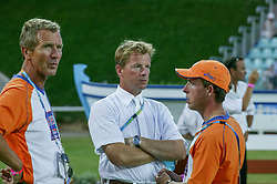 Schroder Wim and Gerco and Heinz Johan<br /> Olympic Games Athens 2004<br /> Photo © Hippo Foto
