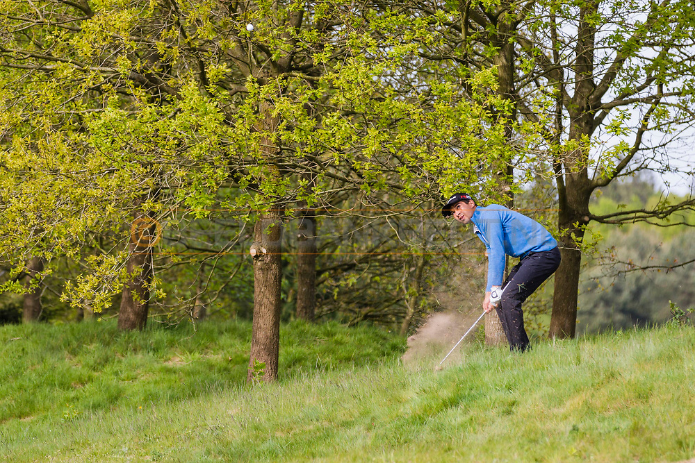 17-05-2015 NGF Competitie 2015, Hoofdklasse Heren - Dames Standaard - Finale, Golfsocieteit De Lage Vuursche, Den Dolder, Nederland. 17 mei. Heren Noordwijkse: Max Albertus tijdens de singles.