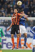 Fotball<br /> Tyskland<br /> 25.02.2016<br /> Foto: Witters/Digitalsport<br /> NORWAY ONLY<br /> <br /> v.l. Facundo Ferreyra, Sead Kolasinac (Schalke)<br /> <br /> Gelsenkirchen, 25.02.2016, Fussball Europa League, Zwischenrunde Rueckspiel, FC Schalke 04 - Schachtar Donezk<br /> Shaktar Donetsk