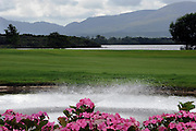 A new water fountain and colourful flowers adorn the approcah to the 17th greem as preparations continue for the 3 Irish Open over the Killeen Course at Killarney Golf Club this week.<br /> Picture by Don MacMonagle