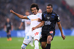May 6, 2018 - Marseille, France - 14 ALASSANE PLEA (NICE) - 19 LUIZ GUSTAVO  (Credit Image: © Panoramic via ZUMA Press)