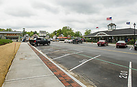 The Lakeside Avenue Improvement Project nears completion for the upcoming Memorial Day Holiday weekend.  (Karen Bobotas/for the Laconia Daily Sun)