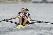 Munich, GERMANY, 2006, FISA, Rowing, World Cup, GBR M2- Bow, Simon Fieldhouse and Marcus Bateman,  held on the Olympic Regatta Course, Munich, Thurs. 25.05.2006. © Peter Spurrier/Intersport-images.com,  / Mobile +44 [0] 7973 819 551 / email images@intersport-images.com..[Mandatory Credit, Peter Spurier/ Intersport Images] Rowing Course, Olympic Regatta Rowing Course, Munich, GERMANY