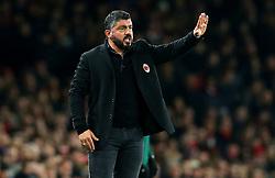 AC Milan head coach Gennaro Gattuso - Mandatory by-line: Robbie Stephenson/JMP - 15/03/2018 - FOOTBALL - Emirates Stadium - London, England - Arsenal v AC Milan - UEFA Europa League Round of 16, Second leg