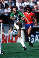 Fotball<br /> VM-sluttspill i 1982<br /> Algerie v Chile<br /> Oviedo - Spania<br /> Foto: Digitalsport<br /> NORWAY ONLY<br /> Rabah Madjer, Algerie