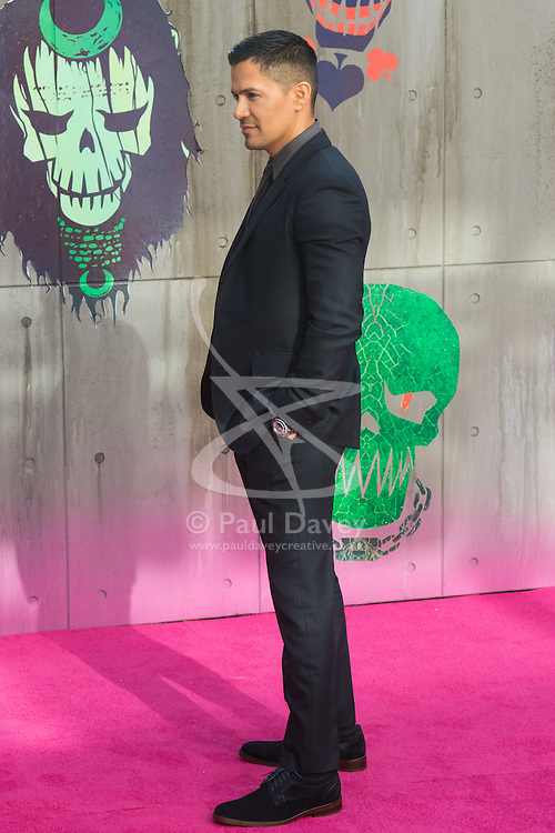 Leicester Square, London, August 3rd 2016. Hundreds of fans greet the stars of Suicide Squad at the film's European premiere in London's Leicester Square. Stars attending include: Jared Leto, Joel Kinnaman, Jai Courtney, Jay Hernandez, Adewale Akinnuoye-Agbaje, Cara Delevingne, Karen Fukuhara David Ayer (Director) Richard Suckle and Charles Roven (Producers). PICTURED: Jay Hernandez