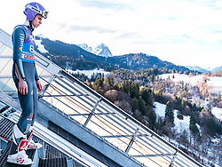 31.12.2017, Olympiaschanze, Garmisch Partenkirchen, GER, FIS Weltcup Ski Sprung, Vierschanzentournee, Garmisch Partenkirchen, Qualifikation, im Bild Andreas Wellinger (GER) // Andreas Wellinger of Germany during his Qualification Jump for the Four Hills Tournament of FIS Ski Jumping World Cup at the Olympiaschanze in Garmisch Partenkirchen, Germany on 2017/12/31. EXPA Pictures © 2017, PhotoCredit: EXPA/ JFK