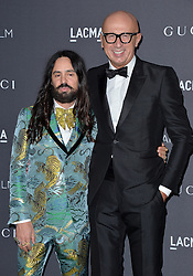 Alessandro Michele and Marco Bizzarri attend the 2016 LACMA Art + Film Gala honoring Robert Irwin and Kathryn Bigelow presented by Gucci at LACMA on October 29, 2016 in Los Angeles, California. Photo by Lionel Hahn/AbacaUsa.com