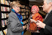 PRUE LEITH; ROXY BEAUJOLAIS; NATHAN SILVER, Relish: My Life on a Plate by Prue Leith. Hatchards. Piccadilly, London. 14 March 2012.
