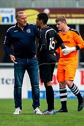 Herman, Nordin Zoufri of VV Maarssen, Shane van Zanten of VV Maarssen in action. First friendly match after the Corona outbreak. VV Maarssen lost the away match against big league Spakenburg 5-1 on 4 July 2020 in Spakenburg.