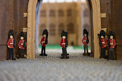 The front of Windsor Castle made entirely out of chocolate at Cadbury World in Birmingham, including the Henry VIII gate with a hand-piped picture of St George's Chapel visible through it, ahead of the royal wedding this weekend.