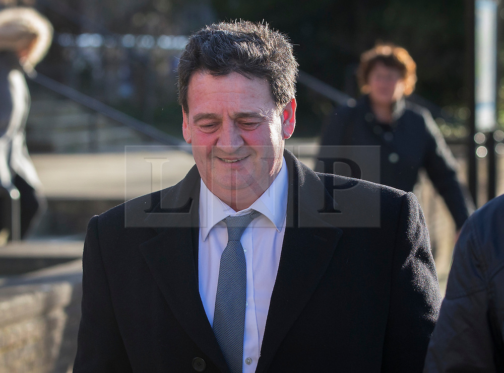© Licensed to London News Pictures. 02/02/2016. Chichester, UK. Paul Price, father of Katie Price, leaves Chichester Crown Court. Mr Price faces two counts of rape as well as alternative charges of attempted rape on each count. A trial date has been set for November 23, 2016. Photo credit: Peter Macdiarmid/LNP