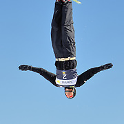 Matt Flesher (Shagrin Falls, OH) performs aerial acrobatics during the 2009 Sprint US Freestyle Championships held at the Utah Olympic Park in Park City on March 8, 2009. Flesher scored 148.62 points during the event which was enough to secure 7th place overall.