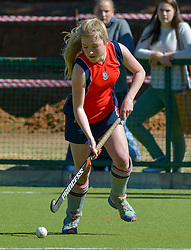 Rachel Swallows of St Stithians during day one of the FNB Private Wealth Super 12 Hockey Tournament held at Oranje Meisieskool in Bloemfontein, South Africa on the 6th August 2016<br /> <br /> Photo by:   Frikkie Kapp / Real Time Images