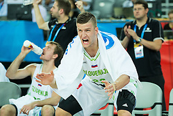 Alen Omic of Slovenia reacts during basketball match between Slovenia vs Netherlands at Day 4 in Group C of FIBA Europe Eurobasket 2015, on September 8, 2015, in Arena Zagreb, Croatia. Photo by Vid Ponikvar / Sportida