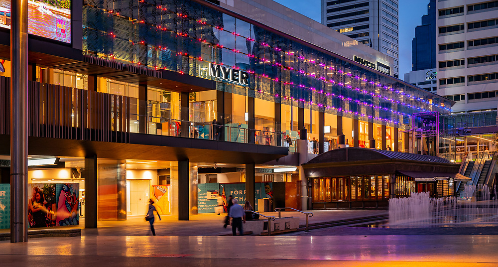 Forest Chase and Myer in the Perth CBD