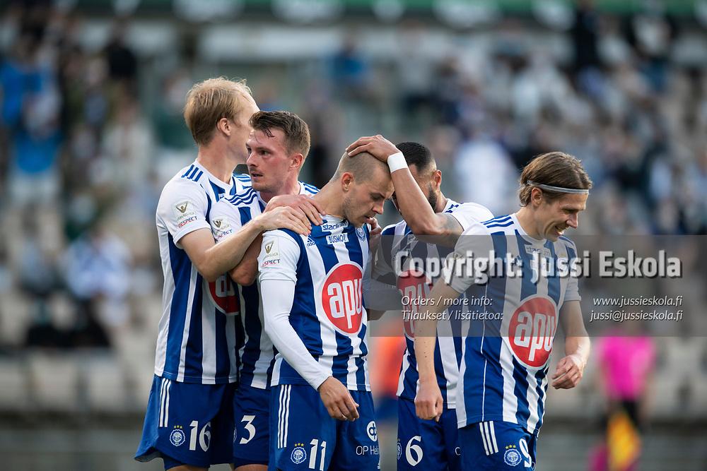 Roope Riski, 2-0. HJK - Neftci. Eurooppa-liigan karsinta. Helsinki 12.8.2021. Photo: Jussi Eskola