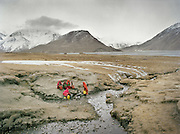 Women fetching water..Wakhis outside in Sarhad, the first village coming down from the Little Pamir.