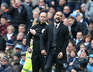 Josep Guardiola manager of Manchester City reacts on the touchline during the Premier League match at the Etihad Stadium, Manchester. Picture date: December 3rd, 2016. Pic Simon Bellis/Sportimage