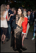 ROKSANA CIURYSEK; , 2014 Serpentine's summer party sponsored by Brioni.with a pavilion designed this year by Chilean architect Smiljan Radic  Kensington Gdns. London. 1July 2014