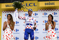 July 20, 2018 - Valence, France - VALENCE, FRANCE - JULY 20 : ALAPHILIPPE Julian (FRA) of Quick - Step Floors during stage 13 of the 105th edition of the 2018 Tour de France cycling race, a stage of 169.5 kms between Bourg d'Oisans and Valence on July 20, 2018 in Valence, France, 20/07/2018 (Credit Image: © Panoramic via ZUMA Press)