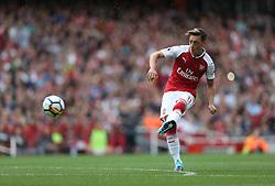 09 September 2017 London : Premier League Football : Arsenal v Bournemouth : Mesut Ozil takes a free kick for Arsenal.<br /> Photo: Mark Leech