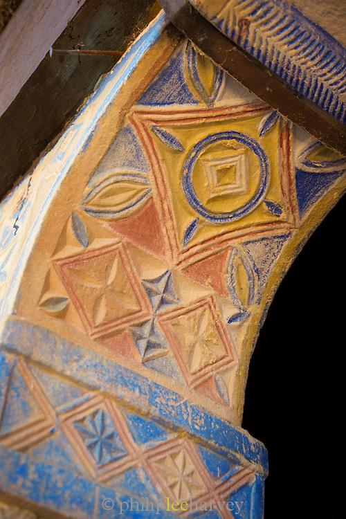 Interior detail of Debre Demo Church. West of Adigrat, Tigray Region. Ethiopia, Horn of Africa