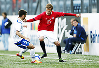 Fotball 1. juni 2012 Euro Qual., U21  Norge - Azerbaijan 1-0 <br /> Norway - Azerbaijan<br /> <br /> Anders Konradsen , Norge<br /> Gara Garayev , Azerbaijan