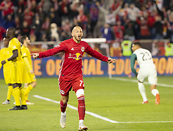 STYLEPREPENDDaniel Royer (77) of Red Bulls celebrates scoring goal during 2nd leg MLS Cup Eastern Conference semifinal game against Columbus Crew SC at Red Bul Arena Red Bulls won 3 - 0 agregate 3 - 1 and progessed to final  (Credit Image: © Lev Radin/Pacific Press via ZUMA Wire)