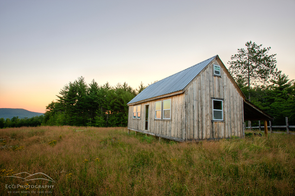 A barn on Birch Hill in New Durham, New Hampshire.
