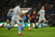 AFC Bournemouth Midfielder, Ryan Fraser (24) attacks the West Ham defence during the Premier League match between Bournemouth and West Ham United at the Vitality Stadium, Bournemouth, England on 19 January 2019.