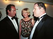 Charles Finch, Jane Procter and Harvey Weinstein. atler post Bafta awards party. Lola's. 1999. © Copyright Photograph by Dafydd Jones 66 Stockwell Park Rd. London SW9 0DA Tel 020 7733 0108 www.dafjones.com