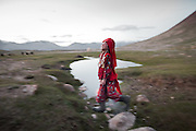 Chinor rounding up yaks..Daily life at the Khan (chief) summer camp of Kara Jylga...Trekking through the high altitude plateau of the Little Pamir mountains (average 4200 meters) , where the Afghan Kyrgyz community live all year, on the borders of China, Tajikistan and Pakistan.