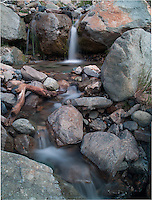 Waterfall in Los Glaciares National Park, Argentina along a trail just outside of Estancia Helsingfors. Composite of 3 images taken with a Nikon D3x and 45 mm f/2.8 PC-E lens.