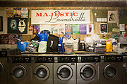 Majestic Laundrette on Argyle Street on the 2nd November 2018 in Glasgow West End in the United Kingdom.